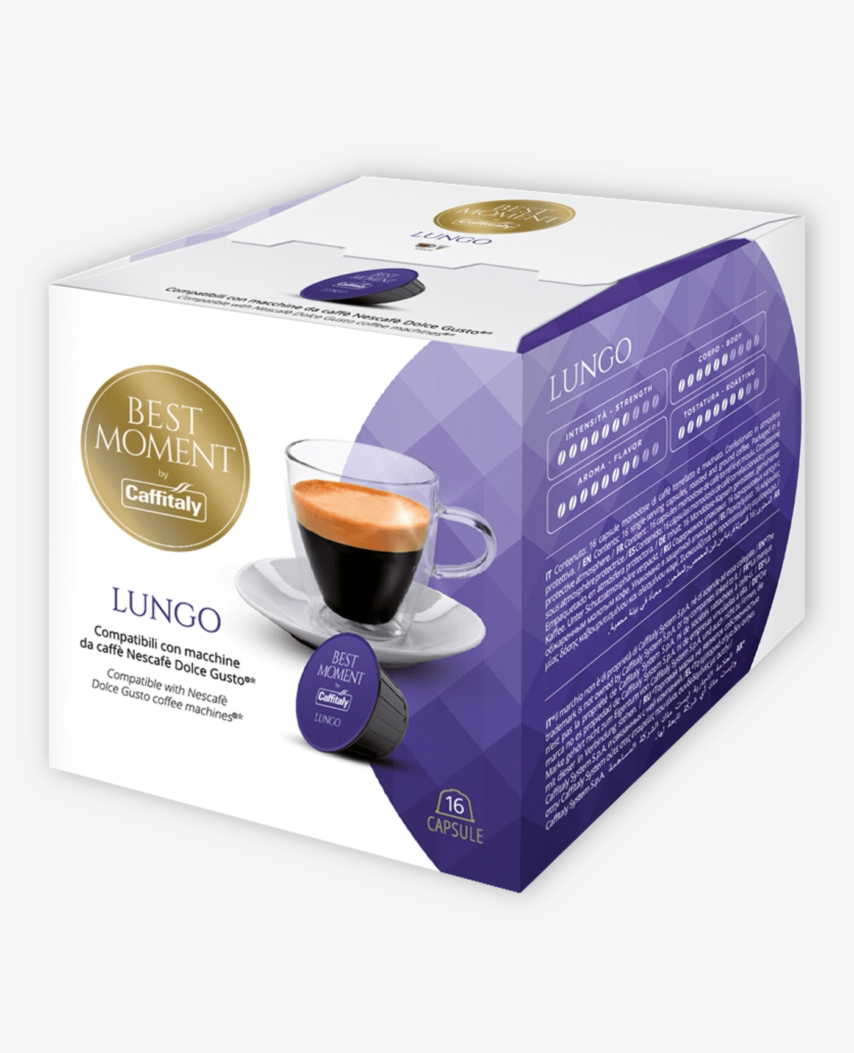 Kapsułki Caffitaly Best Moment Lungo do systemu Dolce Gusto